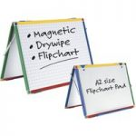Show-Me A2 Double-Sided Magnetic Dry Wipe Easel (Gridded/Plain)