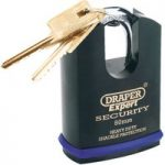 Draper Expert 64196 46mm Heavy Duty Stainless Steel Padlock & 2 Keys