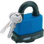 Draper 64176 45mm Weatherproof Laminated Steel Padlock and 2 Keys