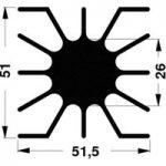 Fischer Elektronik SK 46 10 ME LED Heat Sink 2.76°C/W