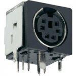 BKL 0204070 Mini-DIN Socket PCB Mount Metal Shielded Horizontal 8-…