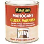 Rustins POSM500 Polyurethane Varnish & Stain Satin Mahogany 500ml