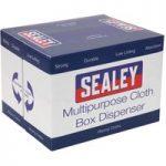 Sealey SCP160 Multipurpose Cloth Box Dispenser Creped Turquoise 69…