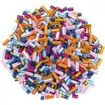 Artstraws Striped Straw Beads, Assorted Colours & Sizes (approx 1000)