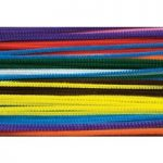 RVFM Pipe Cleaners, 300mm x 4mm, Assorted Colours – Pack of 100