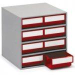 Treston 0830-5 Storage Cabinet 8 Red Drawers