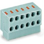 WAGO 252-160 10×2 Pole 3.5mm 2A Push Button PCB Pin Strip Terminal…