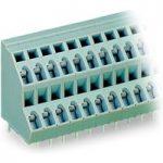 WAGO 736-108 8 x 2 Pole 5mm 21A 45° Double Deck PCB Terminal Block…