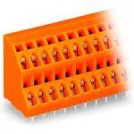 WAGO 736-308 2 x 8 Pole 5mm 21A 45° Double Deck PCB Terminal Block…