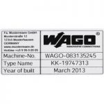 WAGO 210-804 Type Labels Plain 44 x 99 mm 500 Markers per Roll