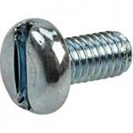 Affix Slotted Pan Head Machine Screws BZP M3 6mm – Pack Of 100