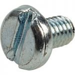 Affix Slotted Pan Head Machine Screws BZP M4 6mm – Pack Of 100
