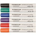 Staedtler 351 WP6 Whiteboard Pens 351 (Pack of 6)