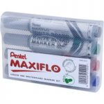 Pentel YMWL5M-4 Whiteboard Bullet Tip Markers – Assorted (4)