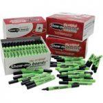 Show-Me Dry Wipe Pens Black Medium (Pack of 100)