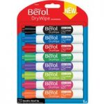 Berol 1984884 Dry Wipe Marker Chisel – Pack of 8 Assorted
