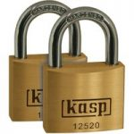 Kasp K12520D2 Premium Brass Padlock – 20mm – Twin