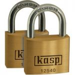 Kasp K12540D2 Premium Brass Padlock – 40mm – Twin