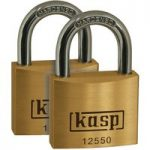 Kasp K12550D2 Premium Brass Padlock – 50mm – Twin