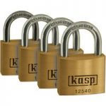 Kasp K12540D4 Premium Brass Padlock – 40mm – Quad