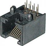 Assmann WSW A-20040/LP 4 Pin RJ10 Socket Black