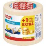 tesa® 55338 Universal Masking Tape Beige 30mm x 50m Pack Of 3