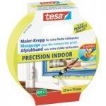 tesa® 56270 Precision Indoor Masking Tape Yellow 25mm x 25m