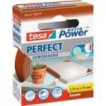 tesa® 56341 Extra Power Fabric Tape – Brown – 19mm x 2.75m