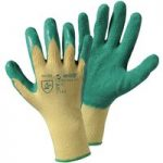 Worky 1492SB Green Grip Glove Knit Glove With Latex Coating – Size 10