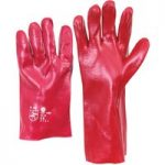 Worky 1480 PVC Red/Brown Glove 27cm Long
