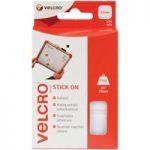 VELCRO® Brand VEL-EC60235 Stick On Squares 25mm x 24 Sets – White