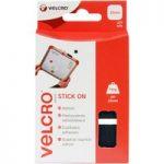 VELCRO® Brand VEL-EC60236 Stick On Squares 25mm x 24 Sets – Black