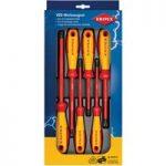 Knipex 00 20 12 V01 VDE Screwdriver Set Slotted / Philips – 6 Piece
