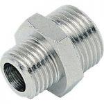 ICH 20303 Nipple Adaptor G1/8 to G1/4 60 bar Brass NP