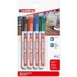 Edding Assorted Chisel Tip Permanent Marker E-3300 4-3300-4 Pack of 4