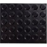 Toolcraft 2125SW60-C Black Rubber Foot Ø 12.7mm – 60 Pack