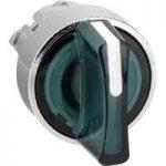 Schneider ZB4BK1333 3 Position Illum Green Selector Switch Head
