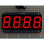 Adafruit 878 0.56″ 4-Digit 7-Segment Display with I2C Backpack Red