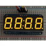 Adafruit 879 0.56″ 4-Digit 7-Segment Display with I2C Backpack Yellow