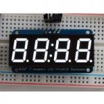 Adafruit 1002 0.56″ 4-Digit 7-Segment Display with I2C Backpack White