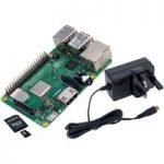 Raspberry Pi 3 BareBones Kit – Pi 3 B+, 5.1V 2.5A PSU & 8GB SD