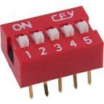RVFM DS1040-5 RN DIL Switch 5-way 10-pin