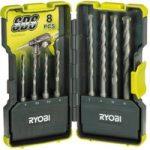 Ryobi 5132002262 RAK08SDS SDS Drill Bit Set of 8
