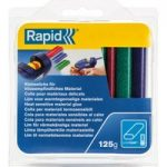 Rapid 40108462 Low Temp Glitter Oval Red/Green/Blue Glue Sticks 125g