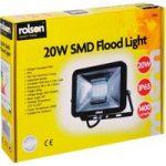 Rolson 61585 20W SMD Flood Light 1400 Lumens