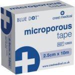 Blue Dot 12823 Microporous Tape Boxed 2.5cm x 10m