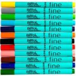 Berol by Paper Mate Assorted Colours Fibre Tip Pens Pack of 12