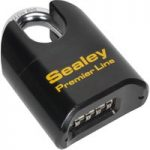 Sealey PL603S Steel Body Combination Padlock Shrouded Shackle 62mm