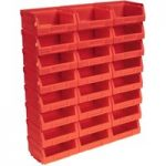 Sealey TPS124R Plastic Storage Bin 103 x 85 x 53mm – Red Pack of 24