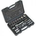 Sealey AK7953 Socket Set 28pc 1/2″Sq Drive 6pt WallDrive® Metric